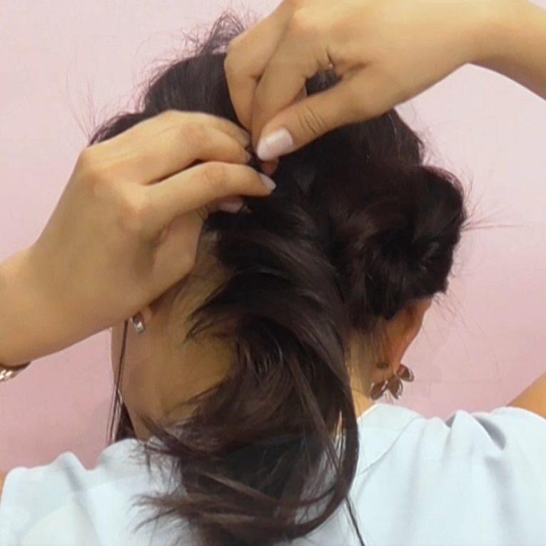 清潔感たっぷり!上品なまとめ髪♪6