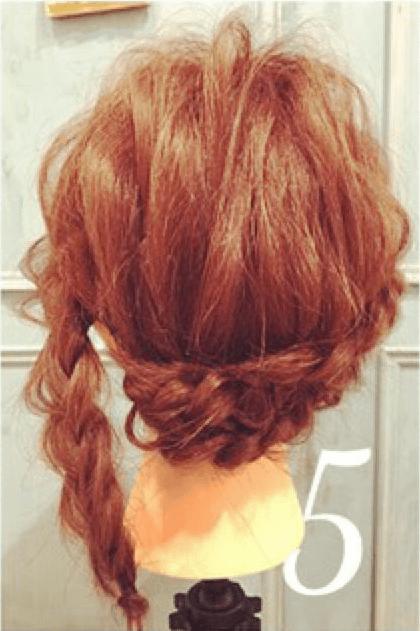三つ編みだけで出来るオシャレまとめ髪☆5