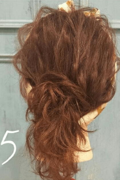 バンダナ×ポニーテール!ささっと簡単に出来るヘアアレンジ☆5