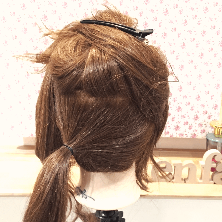 ブロッキングが大事!まとめ髪の上級者向けアレンジ1