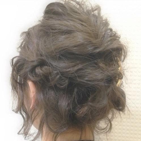 ショートヘアで作る☆オシャレ女子のまとめ髪♪side