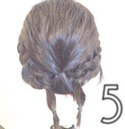 伸ばしかけのボブヘアで作る簡単まとめ髪☆5