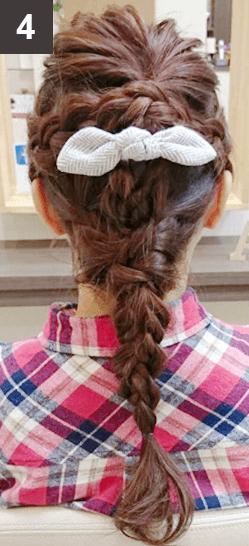 """Instagramで話題の""""えび編み""""アレンジのやり方4"""