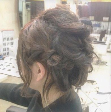 ショートヘアで作る☆オシャレ女子のまとめ髪♪7