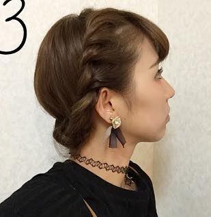 ぽこぽこカチューシャ風×まとめ髪アレンジ☆3