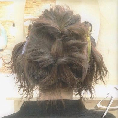 ショートヘアで作る☆オシャレ女子のまとめ髪♪4