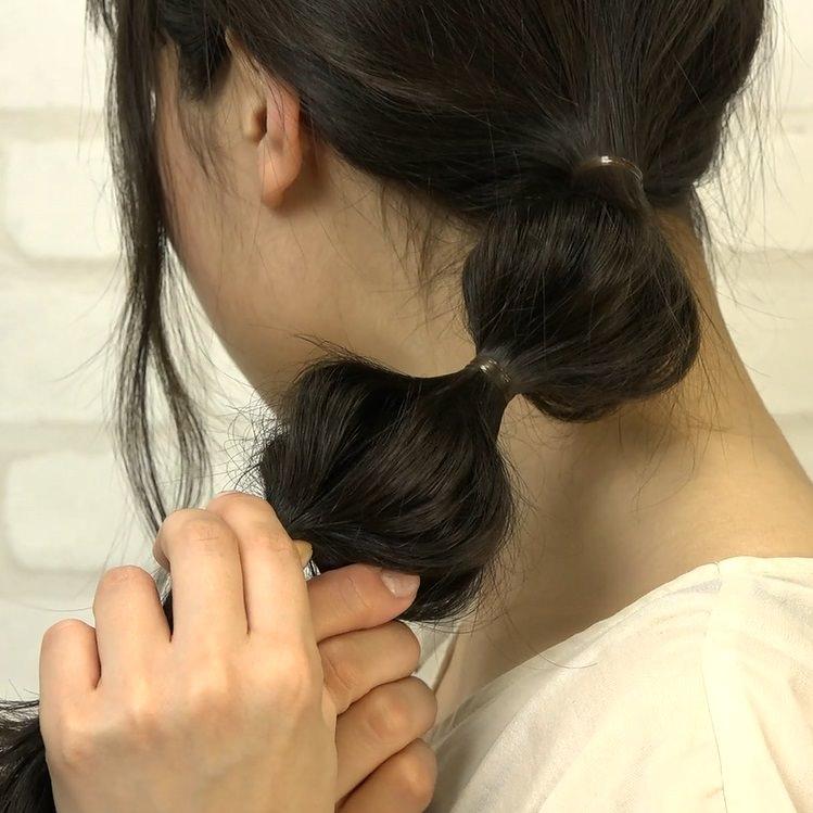 ポニーテールの進化系!ポコポコ可愛いたまねぎヘア☆3