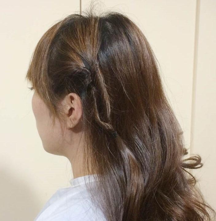 くるりんぱで作る簡単なオシャレなひとつ結びヘアアレンジ☆2