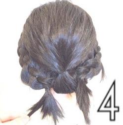 伸ばしかけのボブヘアで作る簡単まとめ髪☆4