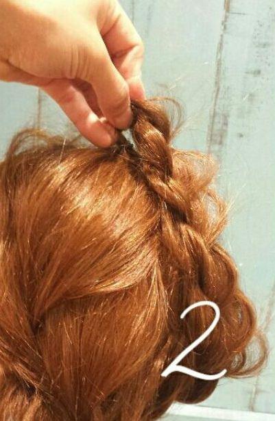 ぽこぽこ立体的に仕上がる!まとめ髪2