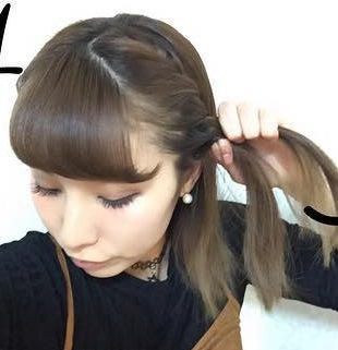 ぽこぽこカチューシャ風×まとめ髪アレンジ☆1