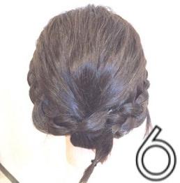 伸ばしかけのボブヘアで作る簡単まとめ髪☆6