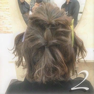 ショートヘアで作る☆オシャレ女子のまとめ髪♪2
