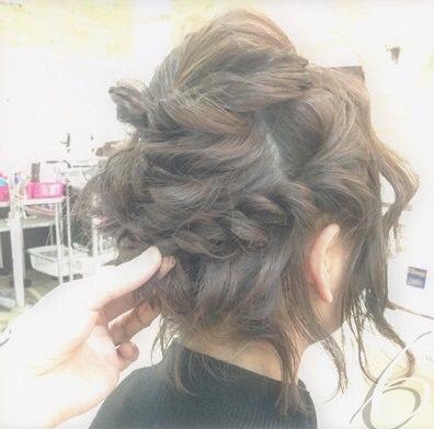 ショートヘアで作る☆オシャレ女子のまとめ髪♪6