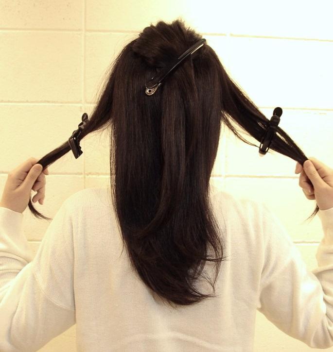 ロングヘアをふんわりまとめるだけ☆コンパクトヘアアレンジ!2