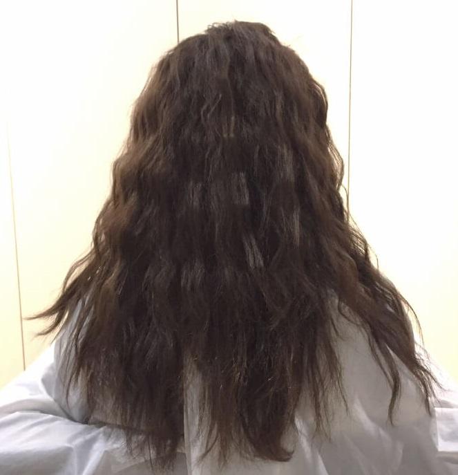 脱巻き髪!人気の波ウェーブで作る三つ編みアレンジ☆1