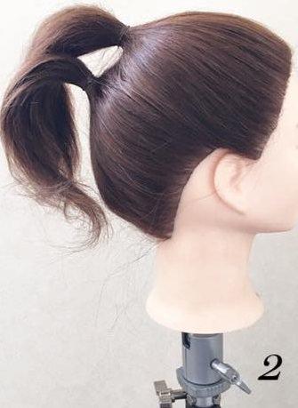 黒髪でもオシャレに映える!リボンヘアの作り方☆2