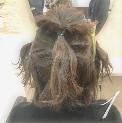 ショートヘアで作る☆オシャレ女子のまとめ髪♪1