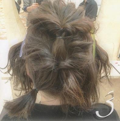 ショートヘアで作る☆オシャレ女子のまとめ髪♪3