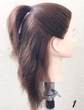 黒髪でもオシャレに映える!リボンヘアの作り方☆1