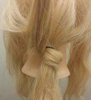 ちょっと個性的に!ロープ編みで作るまとめ髪2