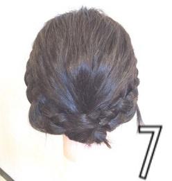 伸ばしかけのボブヘアで作る簡単まとめ髪☆7