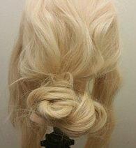 ちょっと個性的に!ロープ編みで作るまとめ髪3