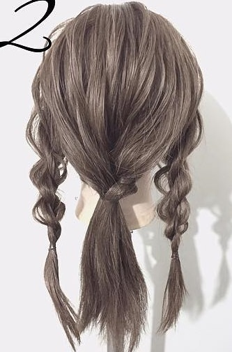 黒髪が大変身!三つ編みとロープ編みで作るローポニーテール☆2