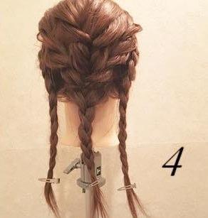 エレガントに仕上がる♪編み込みダウンヘア!4