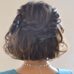 短い髪でも簡単に作れる!シンプルなのに可愛いハーフアップ♪完成