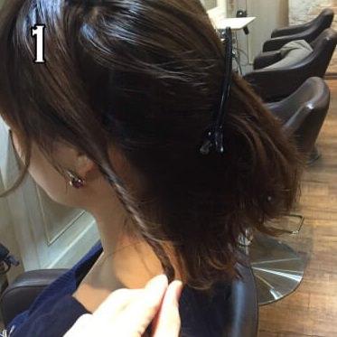 ミディアムヘアで作る☆ギブソンタックの作り方!1