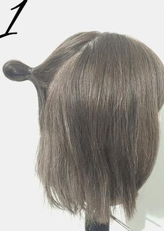 春は軽やかヘアが可愛い!上品で可愛いお団子ハーフアップ1