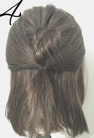 春は軽やかヘアが可愛い!上品で可愛いお団子ハーフアップ4