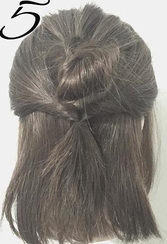 春は軽やかヘアが可愛い!上品で可愛いお団子ハーフアップ5