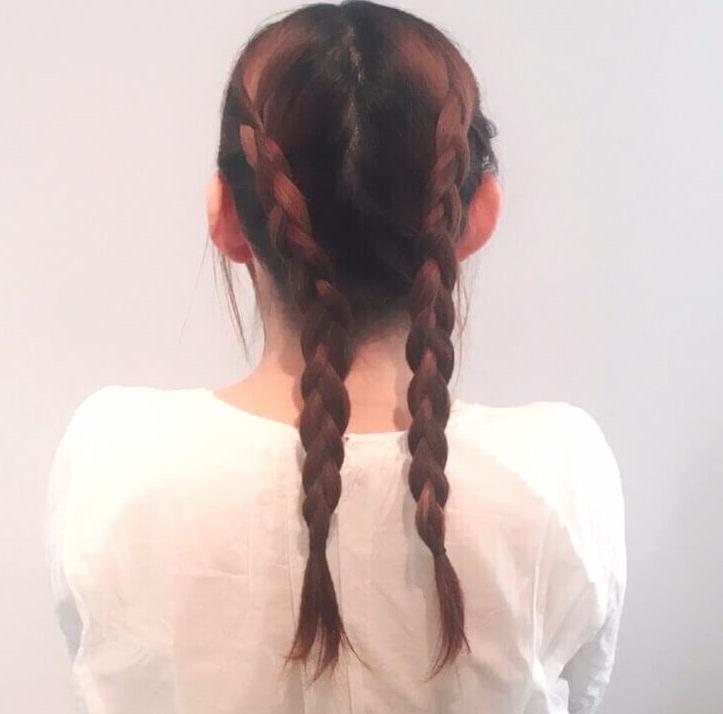 レースリボン×編み込みダウンヘア♪2