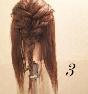エレガントに仕上がる♪編み込みダウンヘア!3