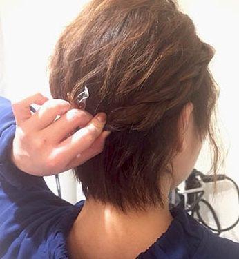 ふんわり×波ウェーブ☆ショートヘアの方のためのイメチェンアレンジ!3