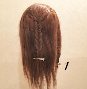 エレガントに仕上がる♪編み込みダウンヘア!1
