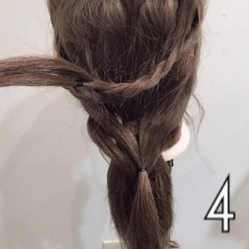平ロープを使ったローポニーヘア☆4