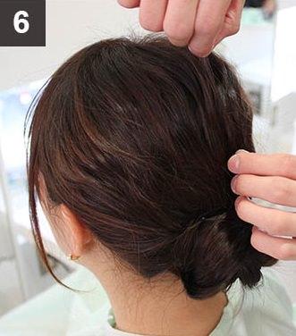 波ウェーブ×まとめ髪でイメージチェンジ!6