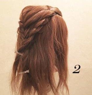 エレガントに仕上がる♪編み込みダウンヘア!2
