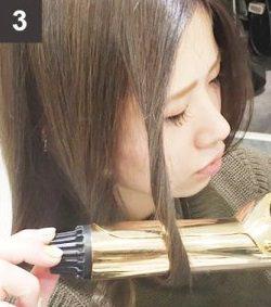 ねじって巻くだけで出来る!自然なゆるふわな巻き髪の作り方☆3