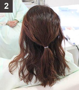 波ウェーブ×まとめ髪でイメージチェンジ!2