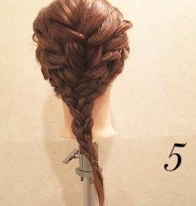 エレガントに仕上がる♪編み込みダウンヘア!5