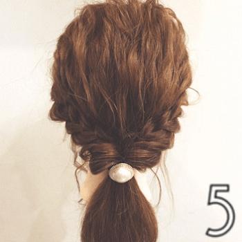 好感度UP♪おしとやかな雰囲気の三つ編みローポニー☆5