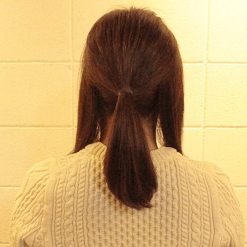 こなれ感出したいならこれ☆ロープ編み×三つ編みのダブルアレンジ1