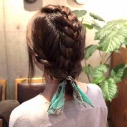 伸ばしかけの髪でも出来る編み込みアレンジTOP