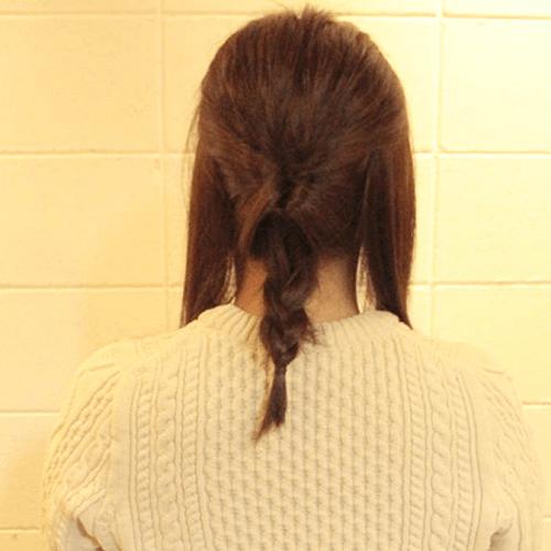 こなれ感出したいならこれ☆ロープ編み×三つ編みのダブルアレンジ3