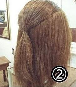 ダブルくるりんぱでつくるまとめ髪2