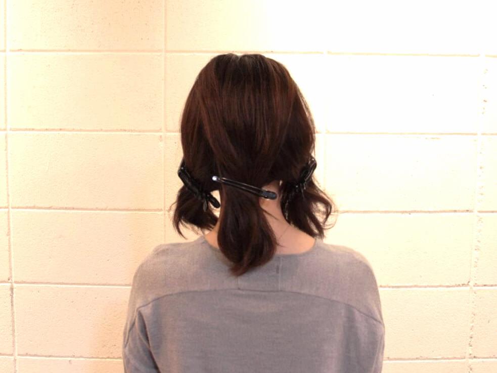 伸ばしかけの髪でも出来る編み込みアレンジ2